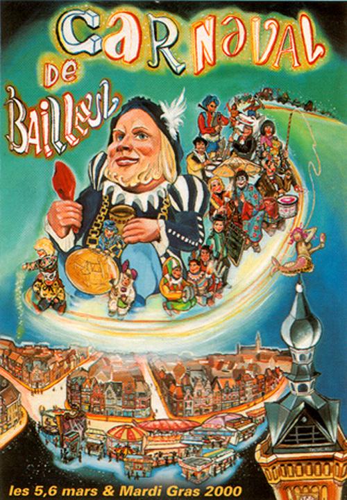 Affiche 2000 du Carnaval de Bailleul