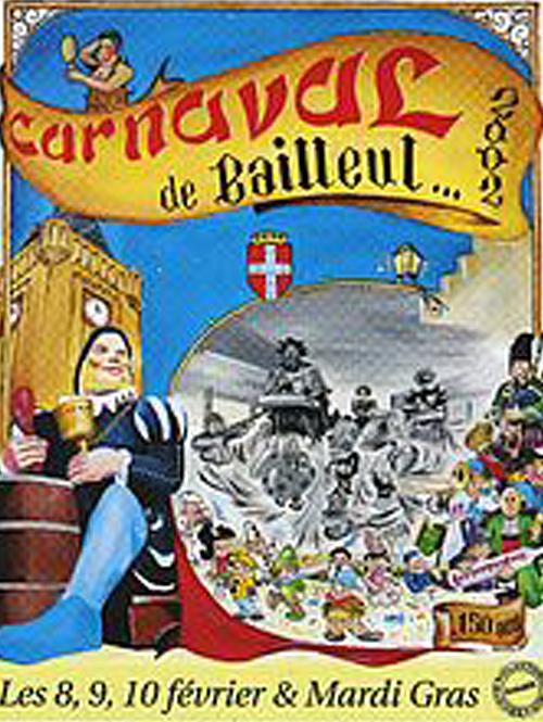 Affiche 2002 du Carnaval de Bailleul
