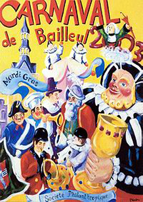 Affiche 2003 du Carnaval de Bailleul