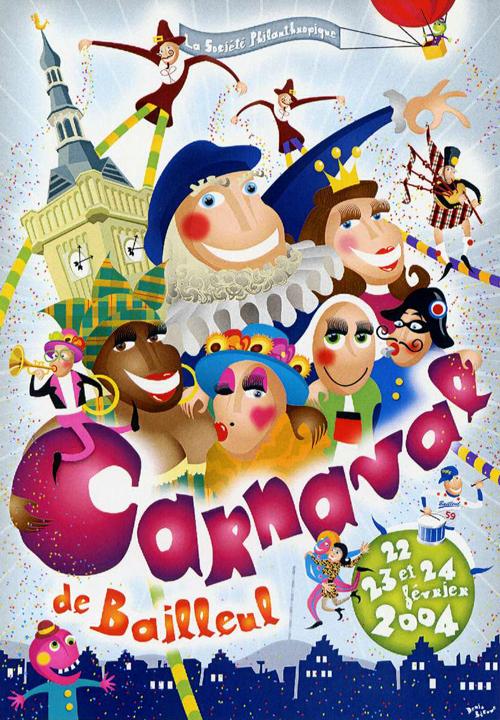 Affiche 2004 du Carnaval de Bailleul