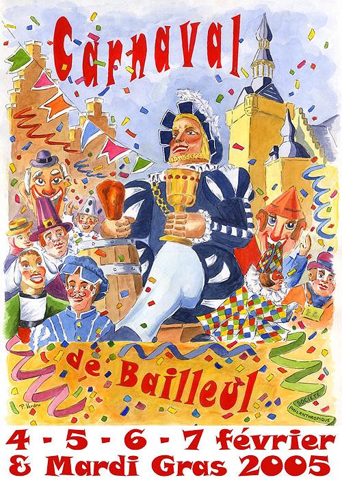 Affiche 2005 du Carnaval de Bailleul