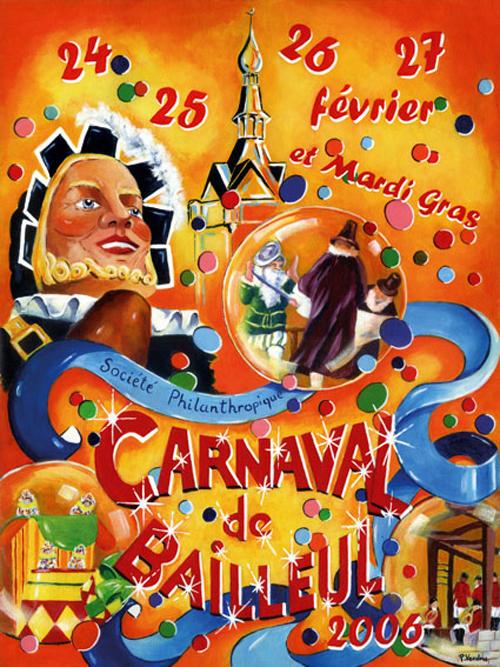 Affiche 2006 du Carnaval de Bailleul
