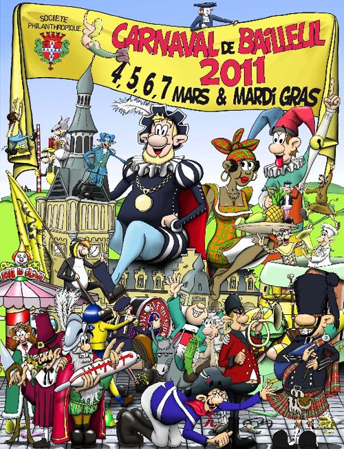 Affiche 2011 du Carnaval de Bailleul