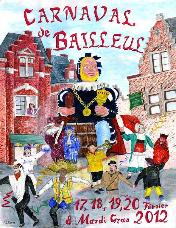 Affiche 2012 du Carnaval de Bailleul