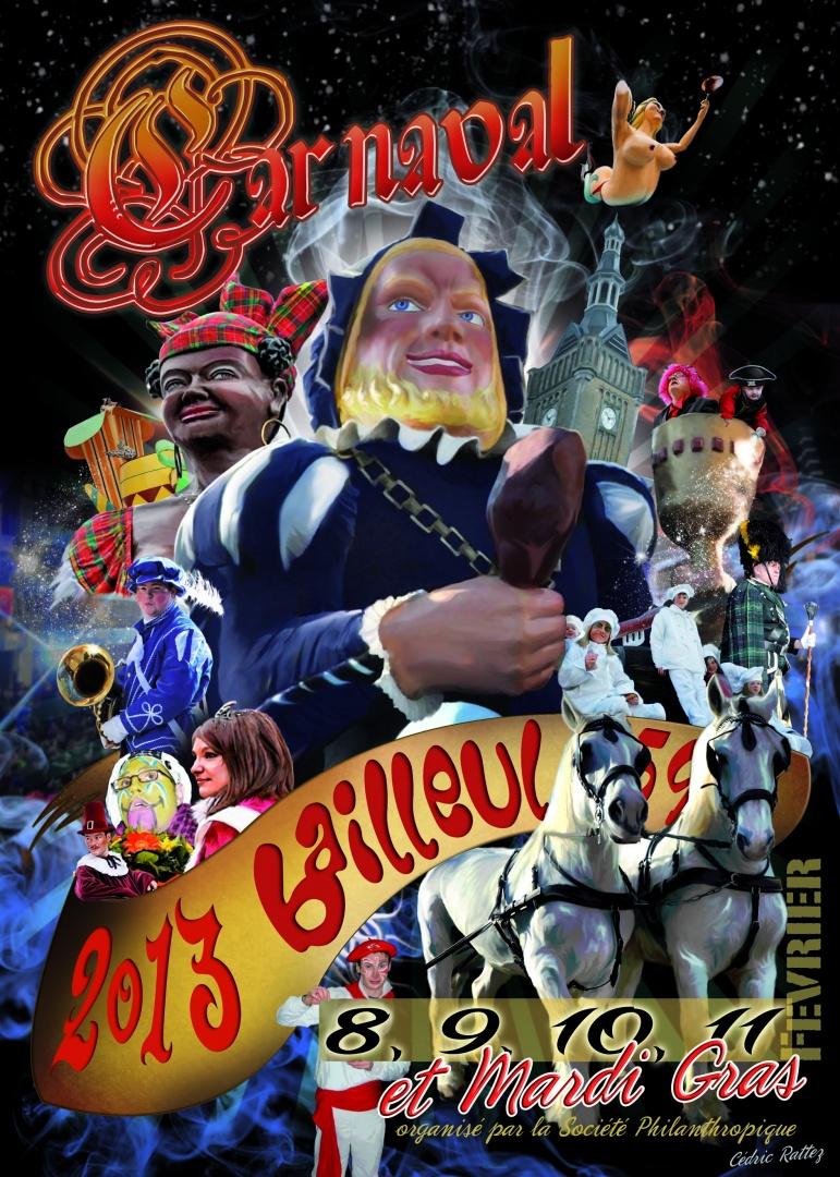 Affiche 2013 du Carnaval de Bailleul