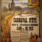 Affiche 1928 du Carnaval de Bailleul -