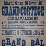 Affiche 1947 du Carnaval de Bailleul -