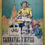 Affiche 1951 du Carnaval de Bailleul -