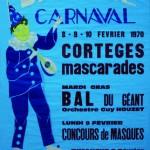 Affiche 1970 du Carnaval de Bailleul -