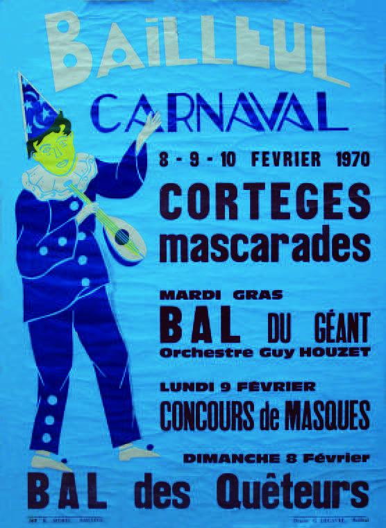 Affiche 1970 du Carnaval de Bailleul