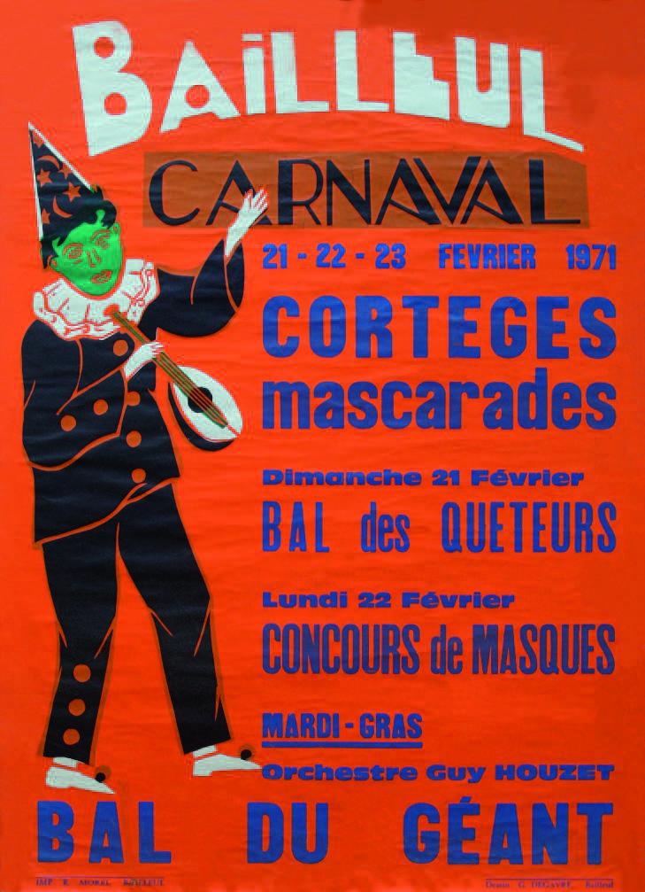 Affiche 1971 du Carnaval de Bailleul