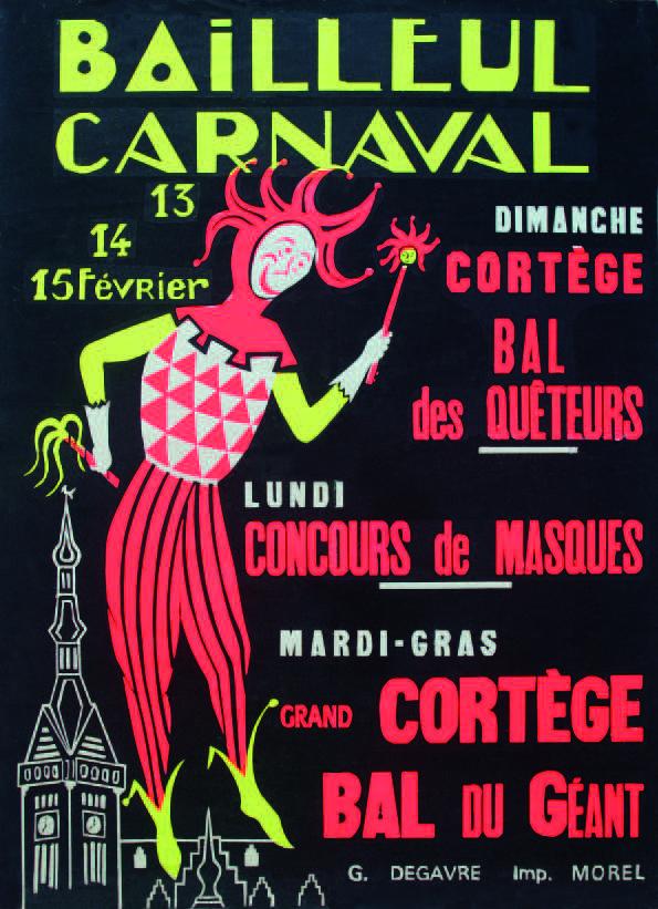 Affiche 1972 du Carnaval de Bailleul