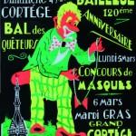 Affiche 1973 du Carnaval de Bailleul -