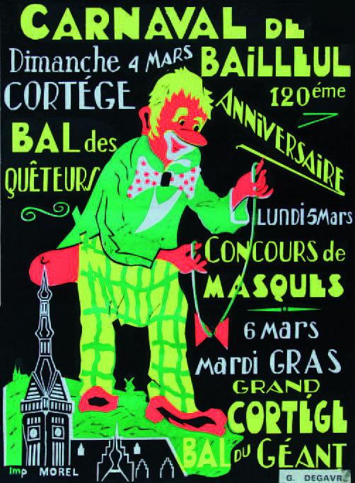 Affiche 1973 du Carnaval de Bailleul