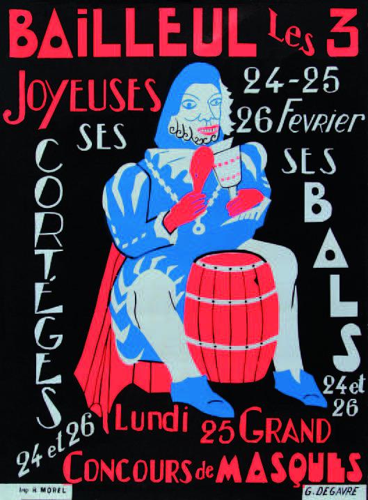 Affiche 1974 du Carnaval de Bailleul