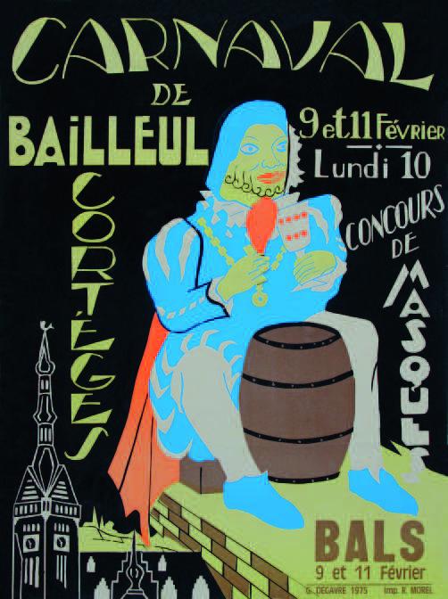 Affiche 1975 du Carnaval de Bailleul