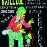 Affiche 1976 du Carnaval de Bailleul -