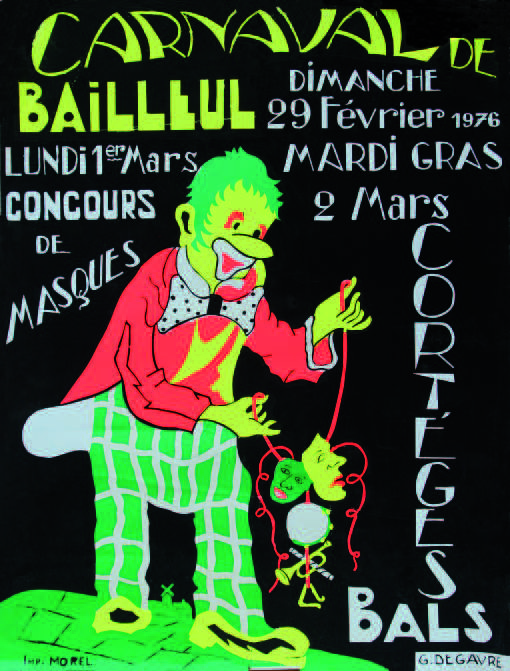 Affiche 1976 du Carnaval de Bailleul
