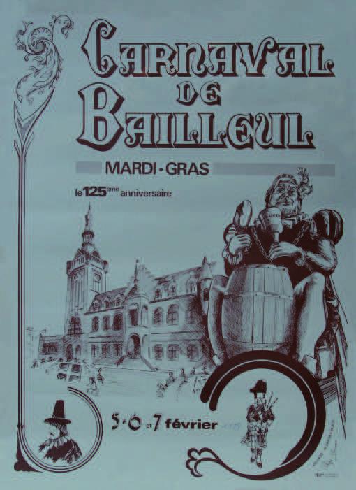 Affiche 1978 du Carnaval de Bailleul