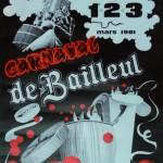 Affiche 1981 du Carnaval de Bailleul -