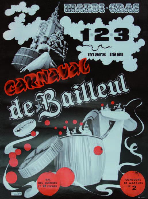 Affiche 1981 du Carnaval de Bailleul