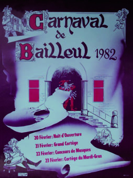 Affiche 1982 du Carnaval de Bailleul