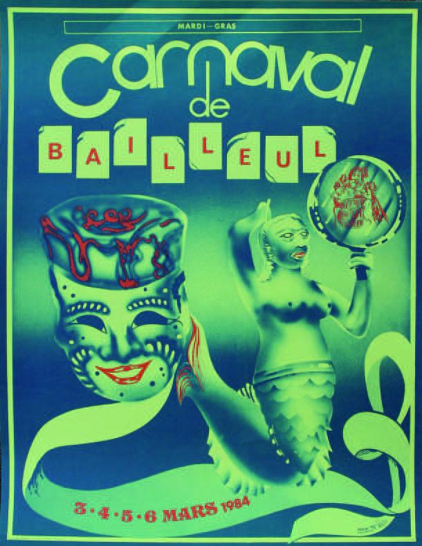 Affiche 1984 du Carnaval de Bailleul