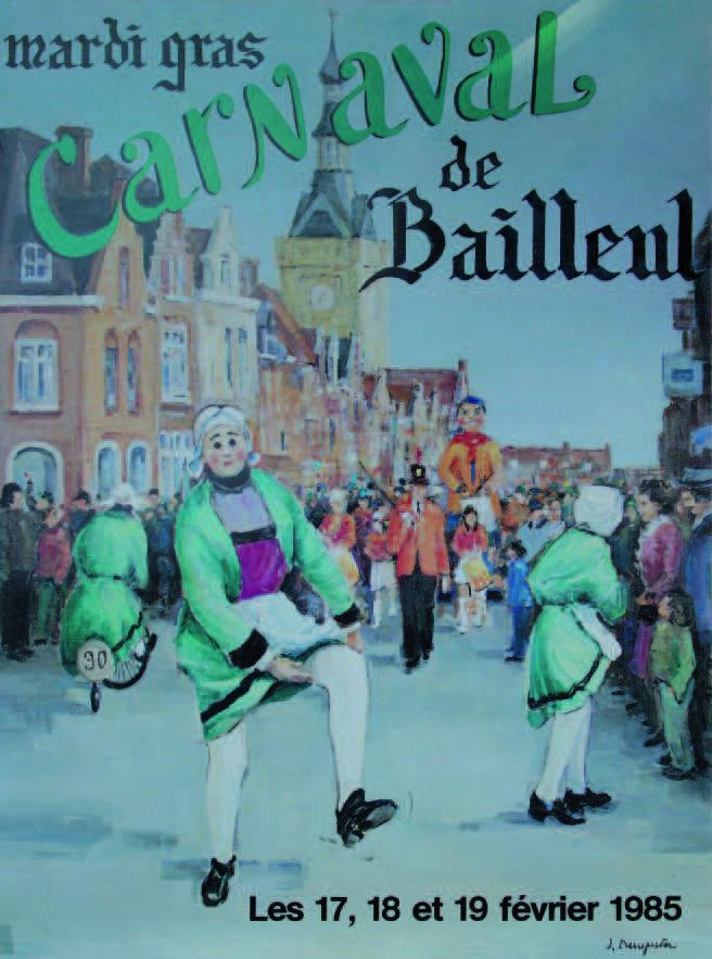 Affiche 1985 du Carnaval de Bailleul