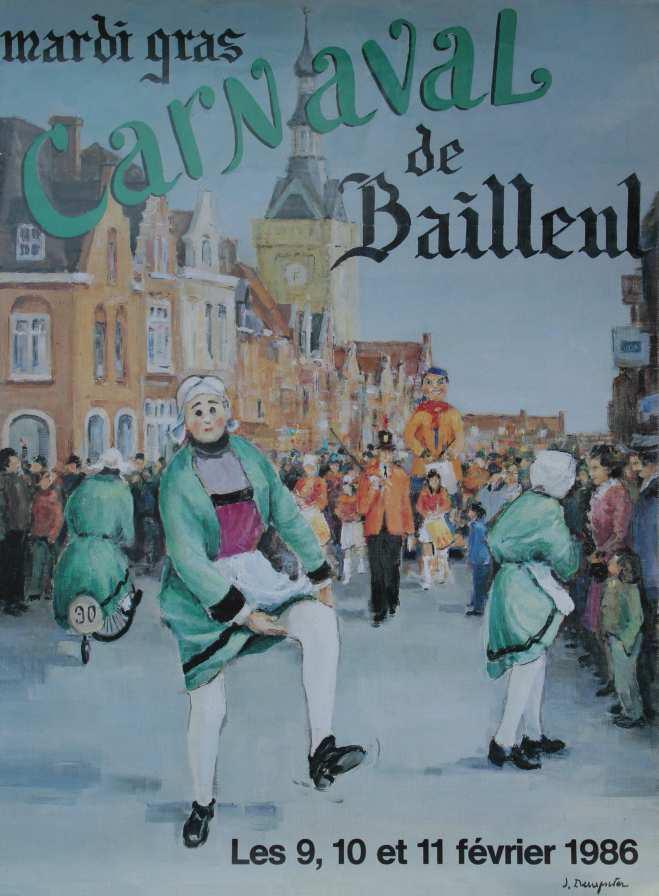 Affiche 1986 du Carnaval de Bailleul
