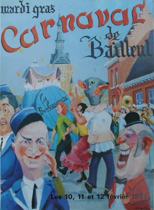 Affiche 1991 du Carnaval de Bailleul