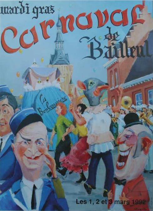 Affiche 1992 du Carnaval de Bailleul