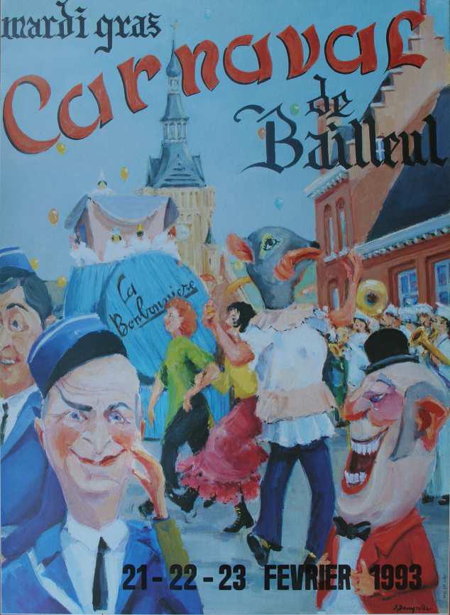 Affiche 1993 du Carnaval de Bailleul