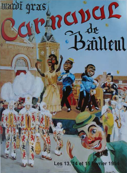 Affiche 1994 du Carnaval de Bailleul