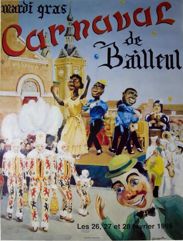 Affiche 1995 du Carnaval de Bailleul