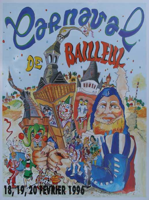 Affiche 1996 du Carnaval de Bailleul