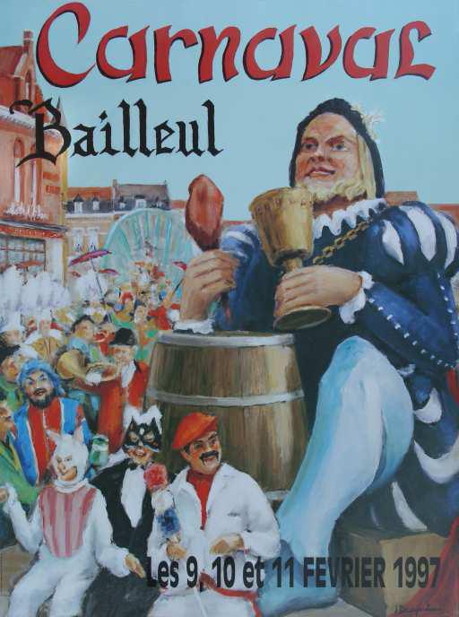 Affiche 1997 du Carnaval de Bailleul