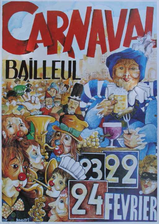 Affiche 1998 du Carnaval de Bailleul