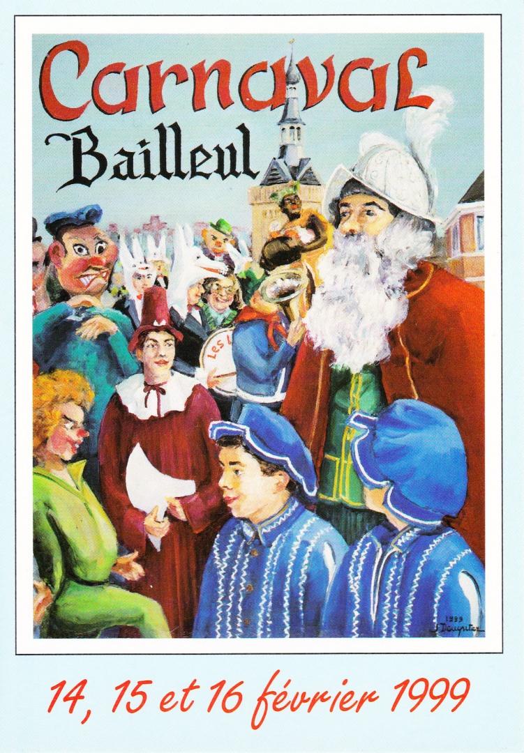 Affiche 1999 du Carnaval de Bailleul