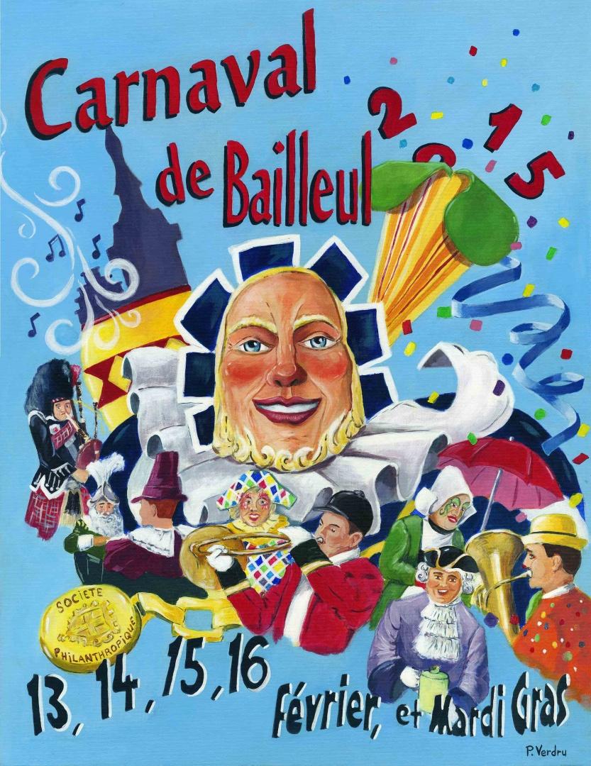 Affiche 2015 du Carnaval de Bailleul
