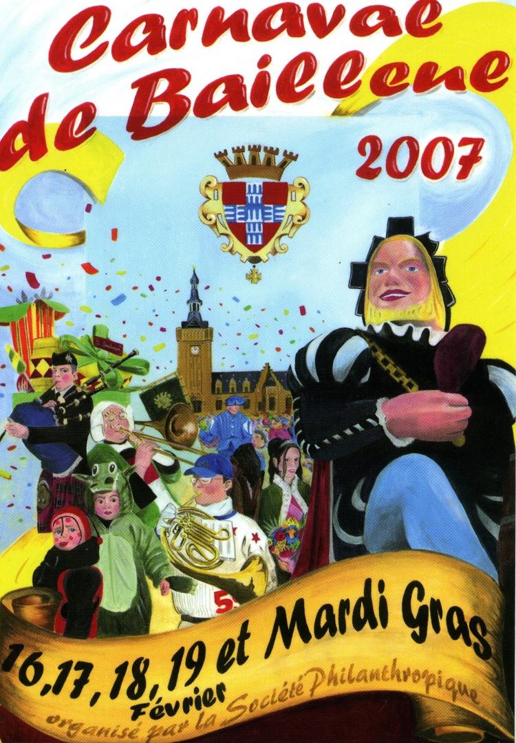 Affiche 2007 du Carnaval de Bailleul