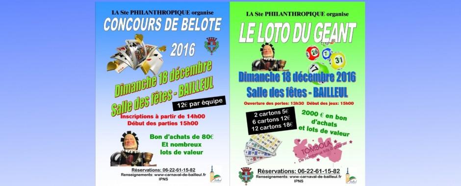 LOTO DU GEANT – CONCOURS DE BELOTE 2016