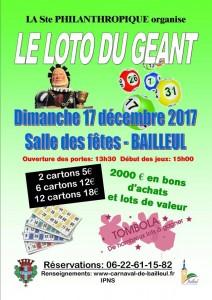 Affiche loto du géant 2017
