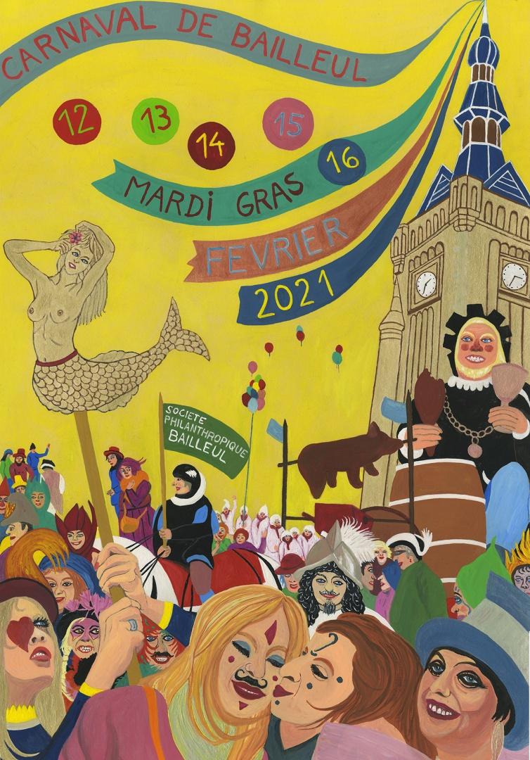 Affiche du carnaval de Bailleul 2021